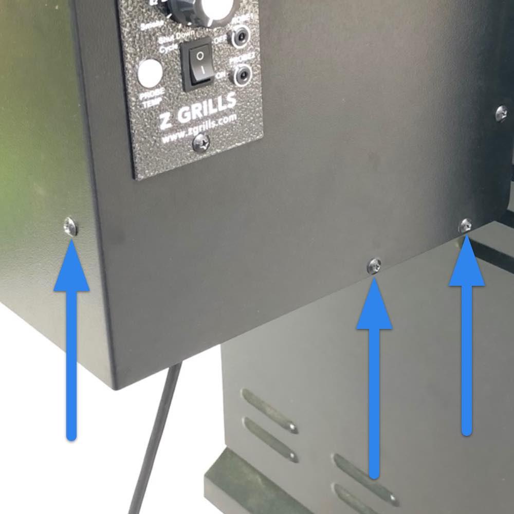 Hopper cover screws