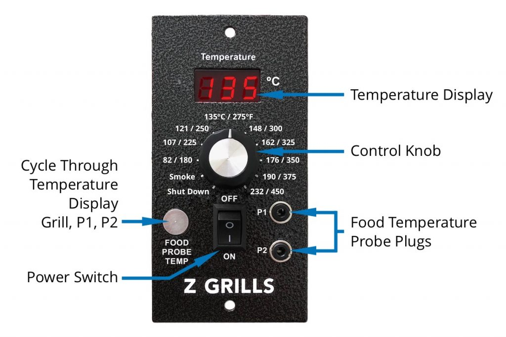 Z Grills Pellet Smoker PID Digital Controller with Labels