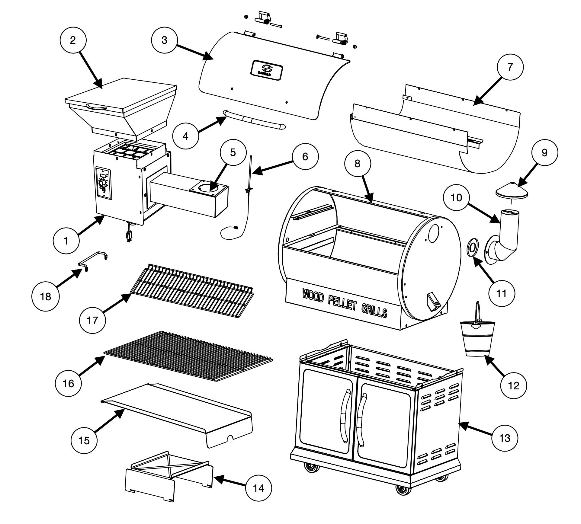 Z Grills 700E-XL assembly process